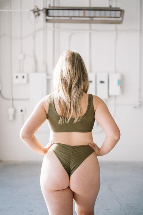 Micaela Bottoms // Olive - Shop Moonstone Swim