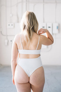 EVA ONE-PIECE // WHITE - Shop Moonstone Swim
