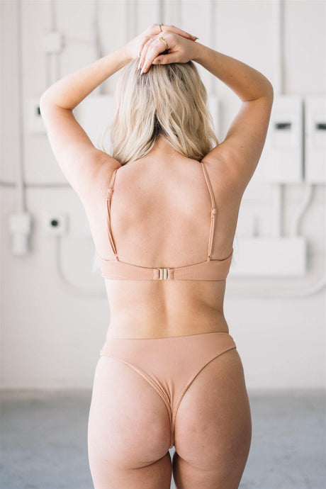 Jasmine Bottoms // Terracotta Ribbed - Shop Moonstone Swim