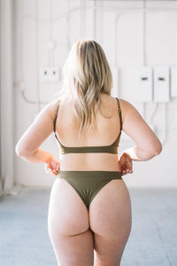 SIGNE TOP // OLIVE - Shop Moonstone Swim