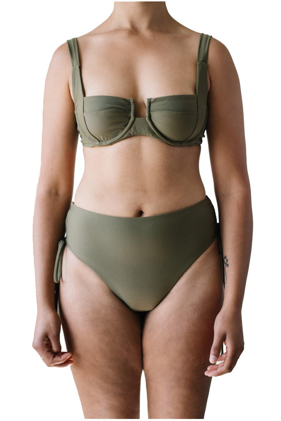 SARAH TOP // OLIVE - Shop Moonstone Swim