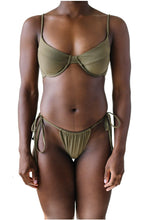 Load image into Gallery viewer, AMANDA TOP // OLIVE - Shop Moonstone Swim