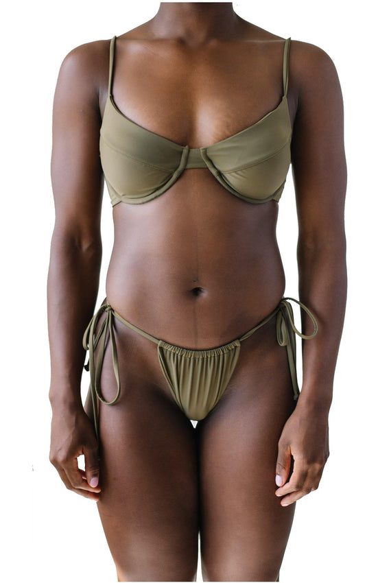 AMANDA TOP // OLIVE - Shop Moonstone Swim