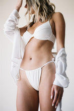 Load image into Gallery viewer, JOY BOTTOMS // WHITE RIBBED - Shop Moonstone Swim