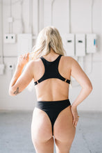 Load image into Gallery viewer, BETHANY ONE-PIECE // BLACK RIBBED - Shop Moonstone Swim