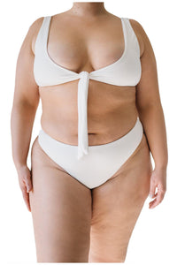 RUBY TOP // WHITE RIBBED - Shop Moonstone Swim