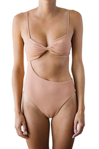 EVA ONE-PIECE // TERRACOTTA RIBBED - Shop Moonstone Swim