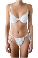 Load image into Gallery viewer, AMANDA TOP // WHITE RIBBED - Shop Moonstone Swim