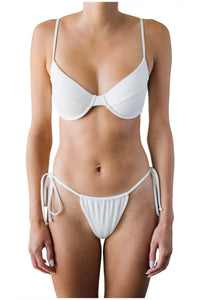 AMANDA TOP // WHITE RIBBED - Shop Moonstone Swim