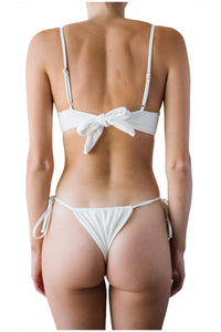 JOY BOTTOMS // WHITE RIBBED - Shop Moonstone Swim