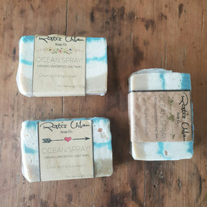 Coconut salt soap bar (V, US) - Rustic Urban Co Australian Made Natural Skincare and Handmade Soap