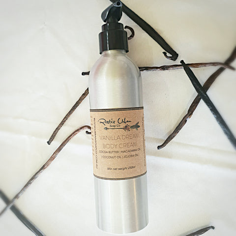 Vanilla Dream Body Cream - Rustic Urban Co Australian Made Natural Skincare and Handmade Soap