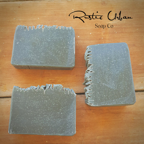 Slate: Charcoal & Cedarwood ( V, EO) - Rustic Urban Co Australian Made Natural Skincare and Handmade Soap