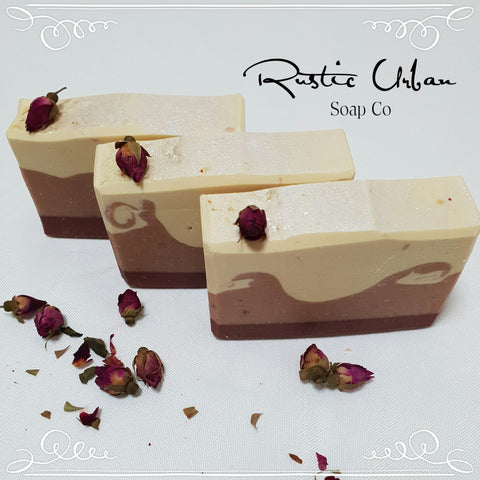 Vintage Rose Soap Bar (GM, FO) - Rustic Urban Co Australian Made Natural Skincare and Handmade Soap