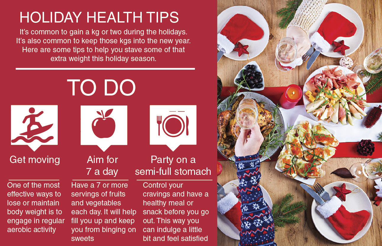 Holiday Health Tips Poster