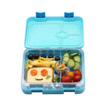 Load image into Gallery viewer, Portion Lunch Box 4 Compartments Blue
