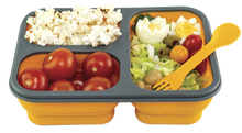 Load image into Gallery viewer, Family Bundle Flexy Lunch Box Orange with Food