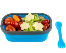Load image into Gallery viewer, Family Bundle Flexy Lunch Box Blue with Food