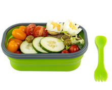 Load image into Gallery viewer, Family Bundle Flexy Lunch Box Green with Food