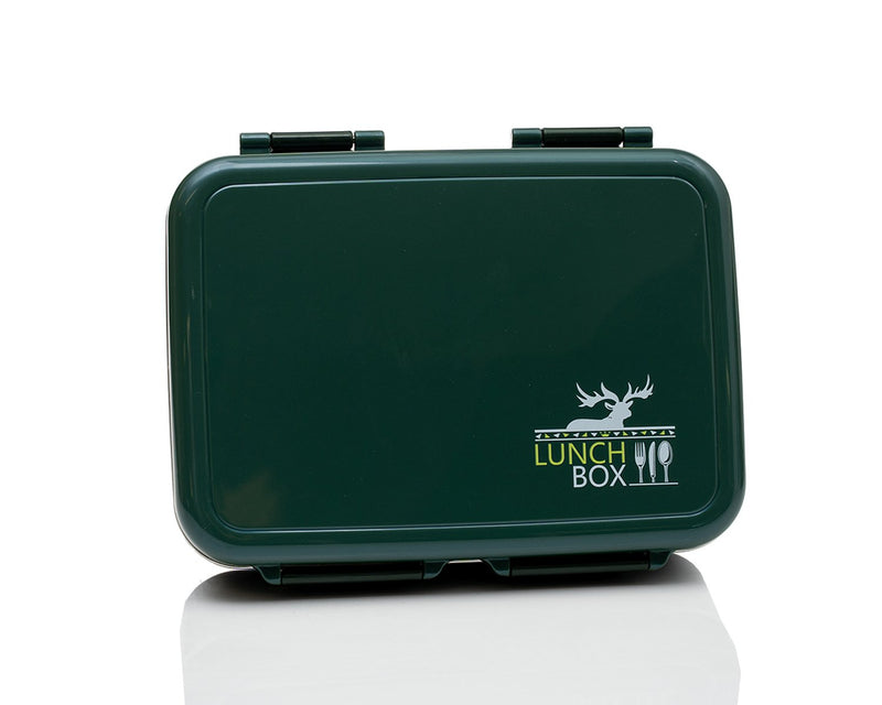 Hot/Cold Portion Lunch Box - 3 compartments, stainless steel