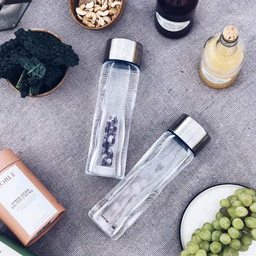 CRYSTAL WATER BOTTLE - AMETHYST