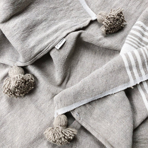 LARGE LINEN & COTTON THROW