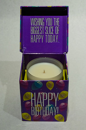 Balloons Purple Happy Birthday Music Box Candle