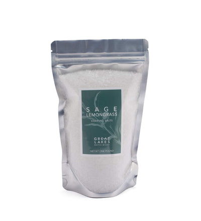Sage Lemongrass Soaking Salts - Great Lakes Bath & Body
