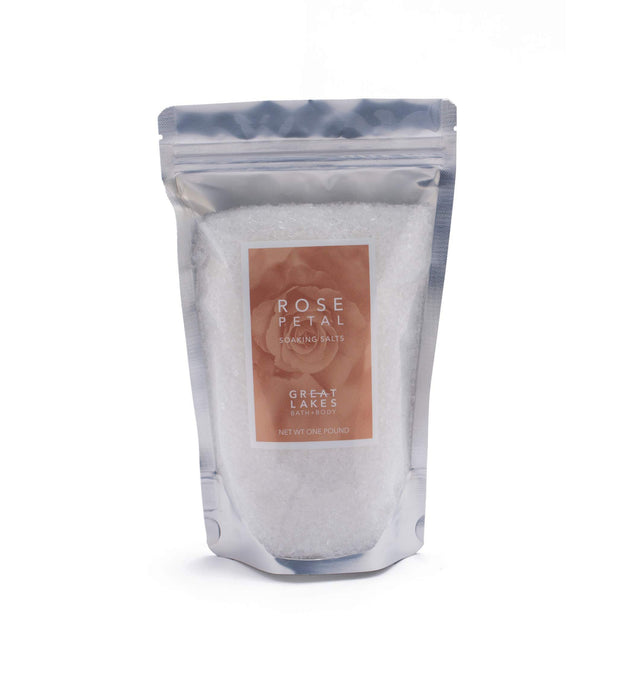 Rose Petal Soaking Salts - Great Lakes Bath & Body