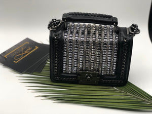 Dalia- Chainsaw Design Top Handle Purse
