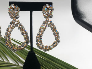 Do you love me?- Drop Diamond Statement Earrings