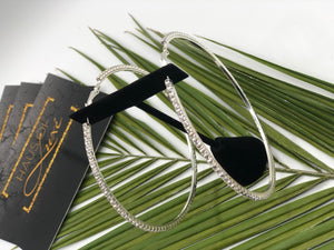 Hot Girl- Classic Thin Diamond Hoops