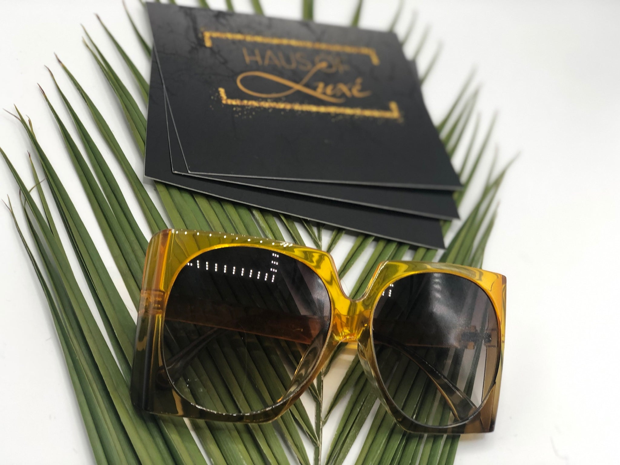 Tropical Feels- Oversized Square Modern Sunglasses