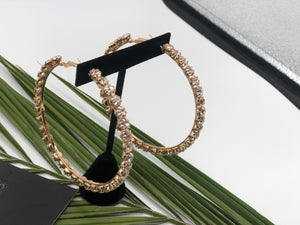 Puré- Chunky Diamond Hoops