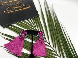 Purple Fuchsia Earrings