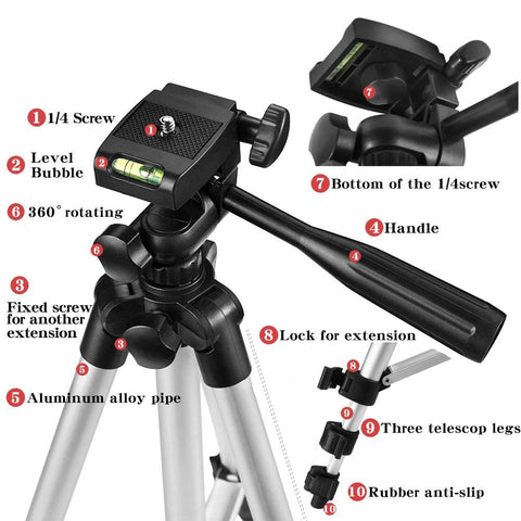 Flexible Bluetooth Tripod Stand