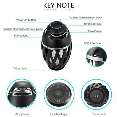 LED Flame Bluetooth Speaker
