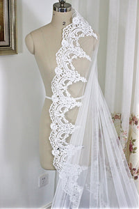 Length Lace edge Cathedral veil