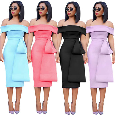 Block colour dress