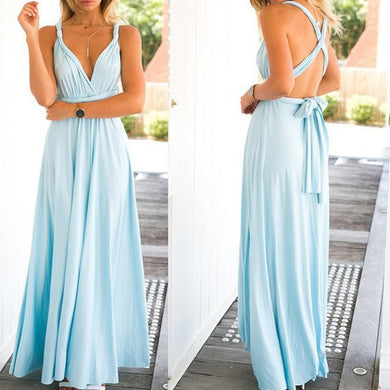 Formal Multi Way Wrap Maxi Dress