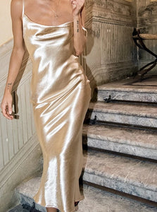 Satin Silk Long Dress