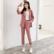 Load image into Gallery viewer, Corduroy Blazer Two Piece Sets