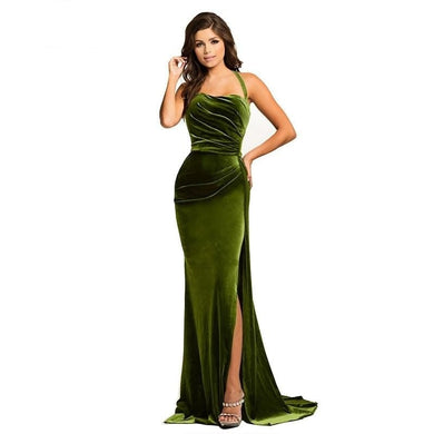 High Split Velvet Gown
