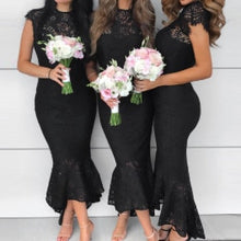 Load image into Gallery viewer, Mermaid lace bridesmaid dress