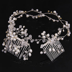 Silver Pearl Hair Jewelry
