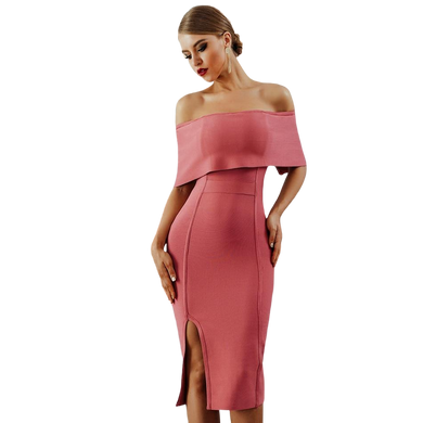 Bodycon Off Shoulder Midi
