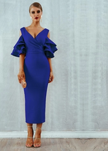 Load image into Gallery viewer, Ruffled midi dress