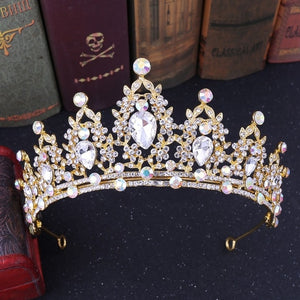 Handmade Rhinestone Bridal Crown