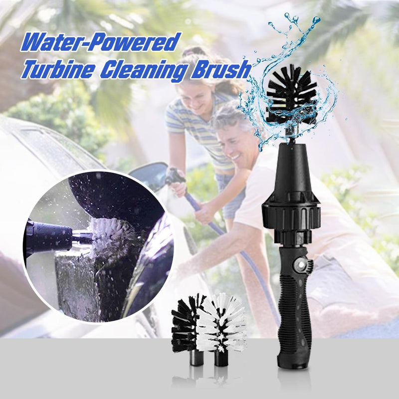 Water-Powered Turbine Cleaning Brush