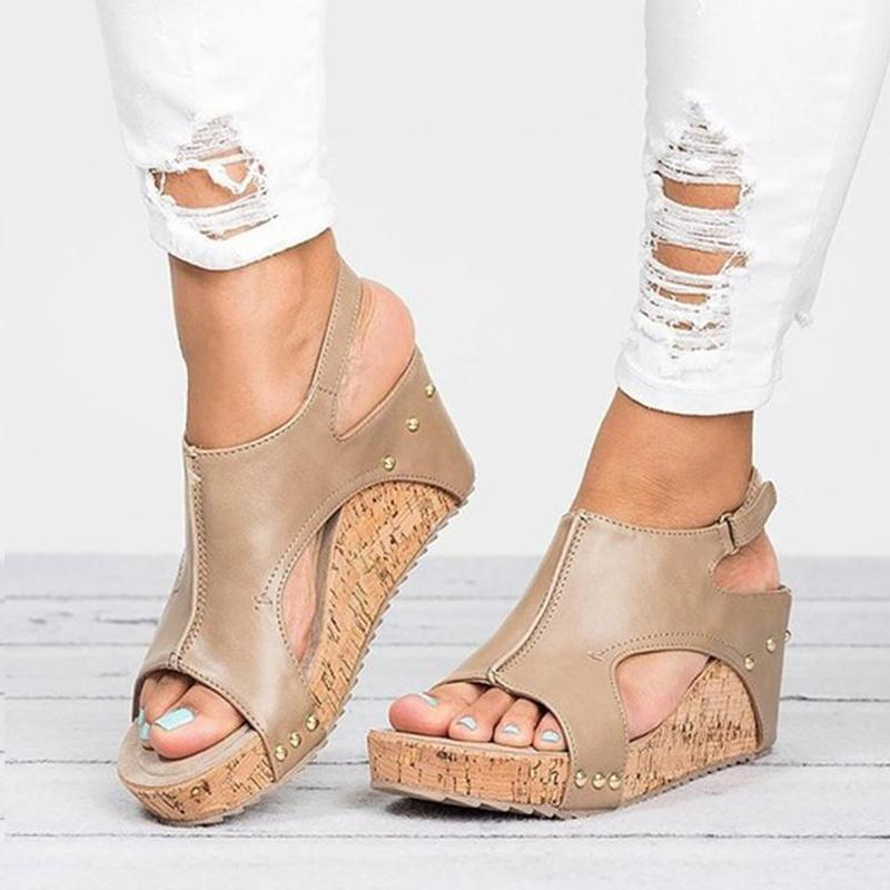 Fashionable Wedge Heels Sandals